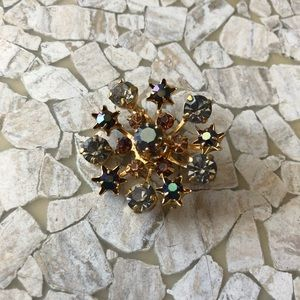 VTG starburst brooch pin 60's marked Austria.